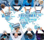 环境自然持续力全球性世界地图概念 库存照片
