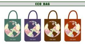 环境袋子 生态包裹 设计选择eco袋子 免版税库存图片