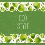 环境题材的- eco样式传染媒介例证 库存例证