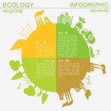 环境,生态infographic元素 环境危险, 向量例证