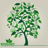 环境,生态infographic元素 环境危险, 皇族释放例证