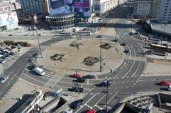 环形交通枢纽华沙 库存照片