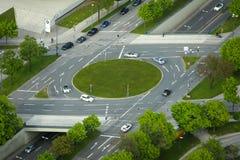 环形交通枢纽在慕尼黑 免版税库存照片