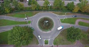环形交通枢纽路,多德雷赫特,荷兰鸟瞰图  影视素材