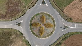 环形交通枢纽鸟瞰图 影视素材