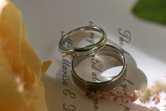 环形婚礼 免版税库存照片