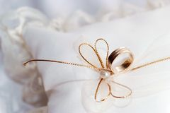 环形婚礼 库存图片