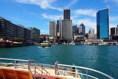 环形码头轮渡码头,悉尼港口,澳大利亚 库存照片