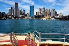 环形码头轮渡码头,悉尼港口,澳大利亚 免版税库存照片