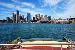 环形码头轮渡码头,悉尼港口,澳大利亚 图库摄影