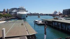 环形码头,悉尼港口,澳大利亚 股票录像