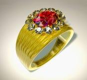环形红宝石 库存例证