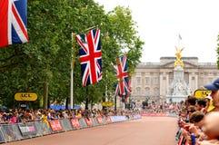 环法自行车赛在伦敦,英国 免版税图库摄影