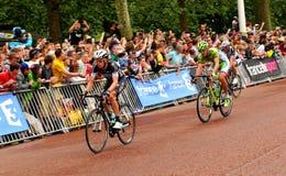 环法自行车赛在伦敦,英国 库存图片