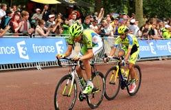 环法自行车赛在伦敦,英国 免版税库存图片