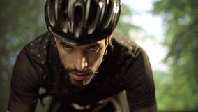 环法自行车赛的骑自行车者训练 影视素材