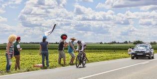 环法自行车赛行动 免版税库存照片