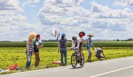 环法自行车赛行动 图库摄影