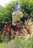 环法自行车赛街道艺术2019年 免版税图库摄影