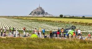 环法自行车赛风景 免版税库存照片