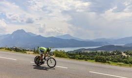 环法自行车赛风景 免版税图库摄影