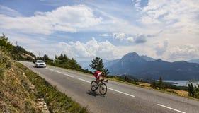 环法自行车赛风景 图库摄影
