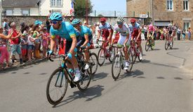 环法自行车赛骑自行车者2018年 免版税库存图片