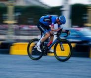 环法自行车赛骑自行车者 库存照片