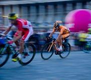 环法自行车赛骑自行车者 免版税库存图片