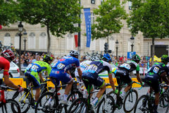 环法自行车赛,竞争在巴黎 细气管球 免版税库存图片