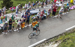 环法自行车赛兴奋 免版税库存照片