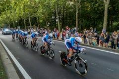 环法自行车赛2019年在布鲁塞尔 免版税库存照片