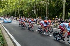 环法自行车赛2019年在布鲁塞尔 免版税库存图片