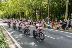 环法自行车赛2019年在布鲁塞尔 库存照片