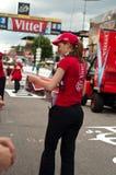 环法自行车赛- vitel新的纸 免版税图库摄影