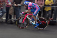 环法自行车赛proloque 免版税库存照片