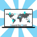环球传染媒介 免版税图库摄影