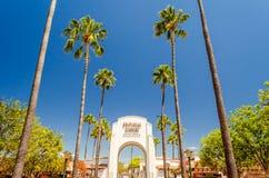 环球影业大门,好莱坞,加利福尼亚 免版税库存照片