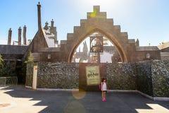 环球影业好莱坞公园,洛杉矶,美国 库存图片