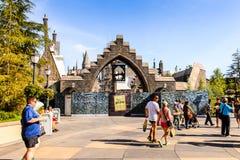 环球影业好莱坞公园,洛杉矶,美国 免版税库存照片