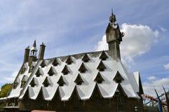环球影业手段Hogsmeade村庄屋顶 库存照片