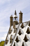 环球影业手段Hogsmeade村庄屋顶 免版税库存照片