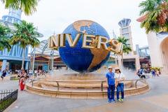 环球影业新加坡是在手段世界的主题乐园圣淘沙内位于圣淘沙海岛,新加坡 免版税库存照片