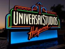 环球电影制片厂签字,好莱坞 免版税库存照片