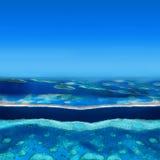 环礁海岛 库存图片