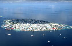 环礁mal天空 库存图片