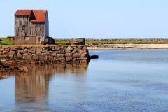 环航的海岛svinoya 库存照片