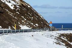 环行路在冰岛,春天 免版税库存图片