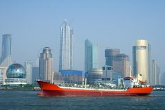 现代上海 库存照片