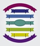 现代五颜六色的丝带-空白 免版税库存照片